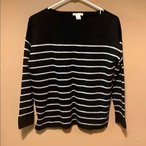 NWT H&M Black/white striped sweater. Xs